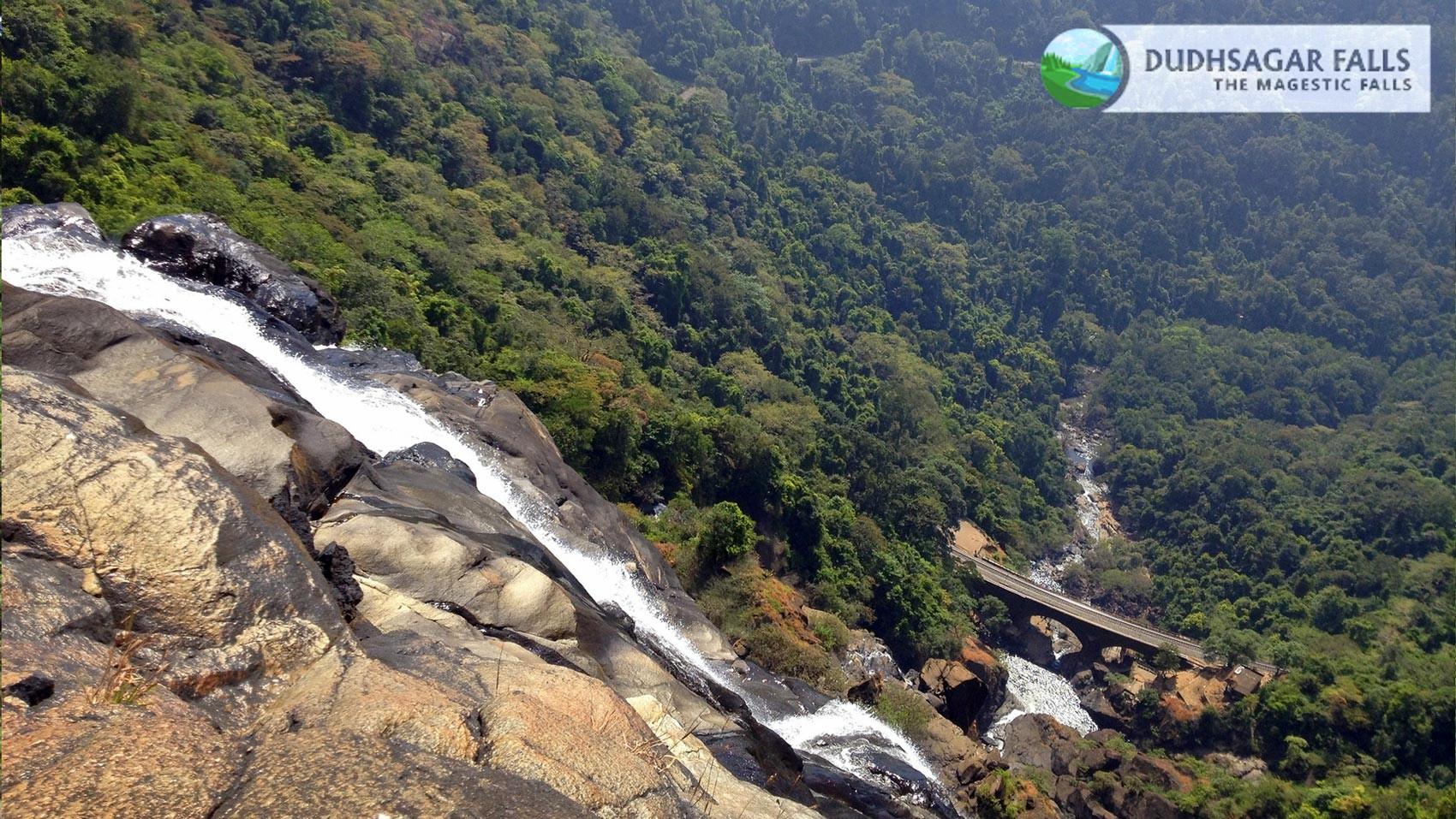 Dudhsagar Top View Amazing Photo